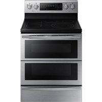"[Samsung 30"" 5.9 Cu. Ft. Self-Clean Freestanding 5-Element Smooth Top Electric Range - $1499.99]"
