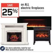 All Electric Firepalces - 25% off