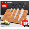 5 Pc. Zwilling Four Star Knife Block Set - $199.99 (60% off)