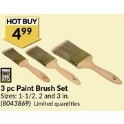 3 Pc Paint Brush Set - $4.99