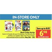Black Friday Movies  - $6.98 (Up to $8.02 off)